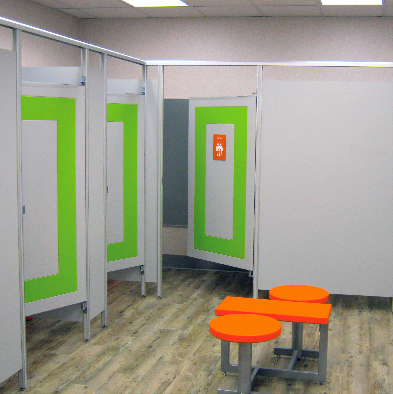 Fitting rooms retail wall panels fixtures